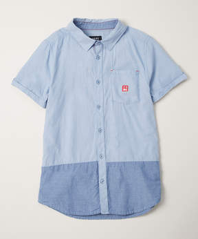 DKNY Light-Wash Opposites Button-Up - Toddler & Boys