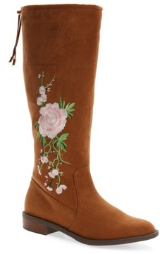 Sam Edelman Girl's Pia Kent Embroidered Boot