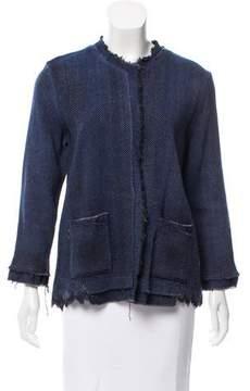 Avant Toi Distressed Tweed Jacket