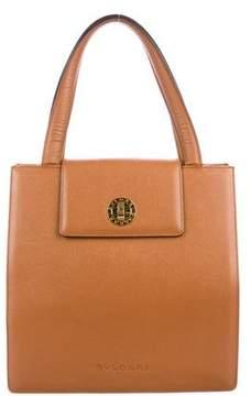Bvlgari Textured Leather Shoulder Bag