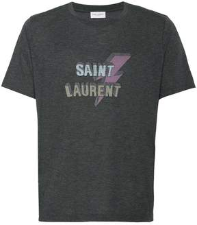 Saint Laurent lightning bolt logo tee