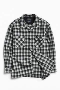 Pendleton Original Board Black + White Shadow Plaid Button-Down Shirt