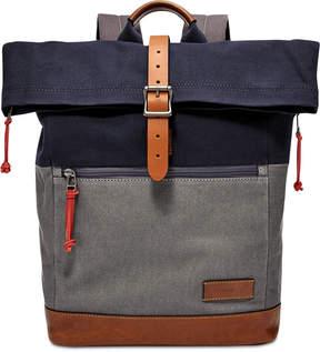 Fossil Men's Defender Colorblocked Roll-Top Backpack