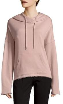 Betsey Johnson Floral Embroidery Cotton Hoodie