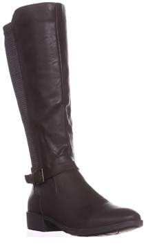 Style&Co. Sc35 Luciaa Flat Riding Boots, Chocolate.