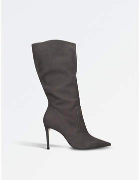 Carvela Ladies Grey Special Suede Point-Toe Boots