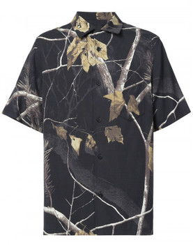 Alexander Wang WINTER CAMO PRINTED SILK HAWAIIAN SHIRT