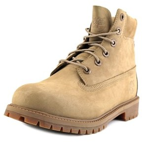 Timberland 6 Inch Prem Youth Round Toe Suede Nude Boot.