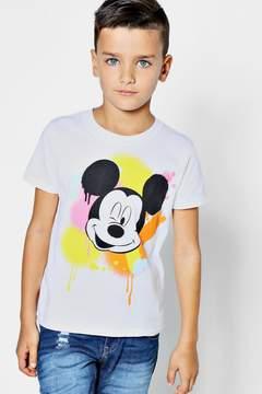 boohoo Boys Disney Mickey Graffiti Tee