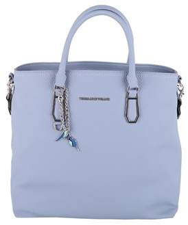 Trussardi Women's Blue Polyurethane Shoulder Bag.