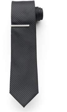Apt. 9 McVinney Check Tie With Tie Bar