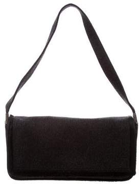 Sergio Rossi Ponyhair Trimmed Wool Bag