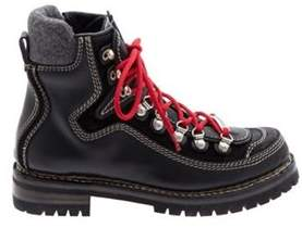 DSQUARED2 Men's Black Leather Ankle Boots.