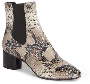 Isabel Marant Women's Danelya Snakeskin Embossed Chelsea Boot