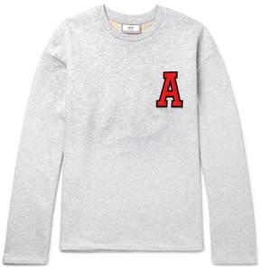 Ami Appliquéd Loopback Cotton-Jersey Sweatshirt