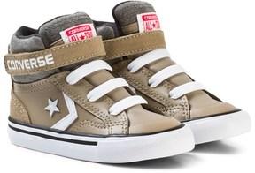 Converse Khaki and White Infants Pro Blaze Stripe Hi-Tops