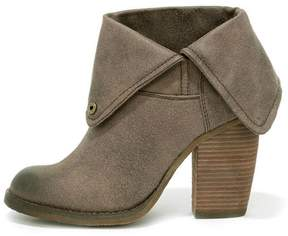 Sbicca Taupe Fold-Over Bootie