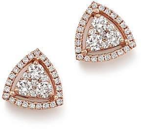 Bloomingdale's Diamond Triangle Stud Earrings in 14K Rose Gold, .65 ct. t.w. - 100% Exclusive
