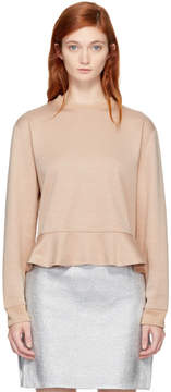 Carven Pink Ruffled Sweatshirt