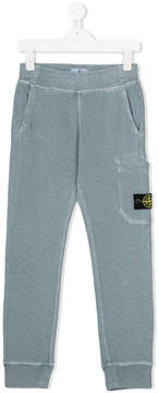 Stone Island Junior logo patch lounge trousers