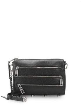 Rebecca Minkoff Zip Leather Mini Crossbody Bag - BLACK - STYLE