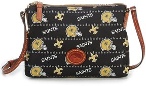 Dooney & Bourke NFL New Orleans Saints Cross-Body Bag - BLACK - STYLE