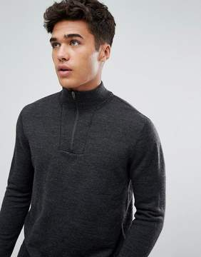 Abercrombie & Fitch Shawl Knit Sweater in Charcoal