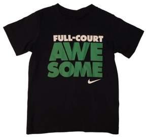 Nike Swoosh Boys Navy Blue Full-Court Awesome Basketball Tee T-Shirt 4