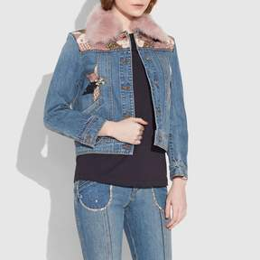 Coach New YorkCoach Quilted Patchwork Denim Jacket