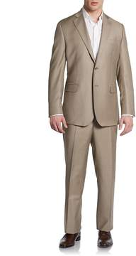 Saks Fifth Avenue BLACK Men's Classic-Fit Wool & Silk Two-Button Suit