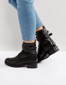 Miss KG Sax Jewelled Military Boots
