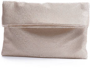 Shiraleah Tyra Metallic Mesh Fold Over Clutch Bag