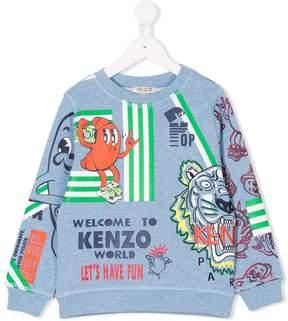 Kenzo multi-logo print sweatshirt