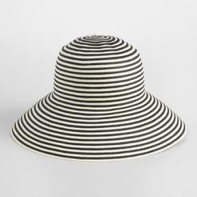World Market Black and White Stripe Bucket Hat