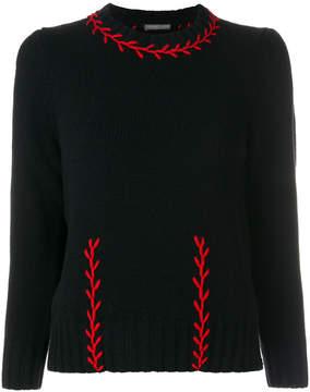Alexander McQueen stitched jumper