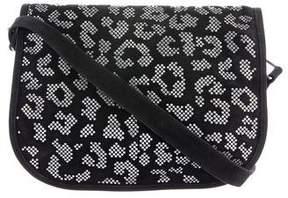 Balmain Suede Embellished Leopard Bag