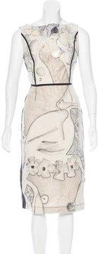 Antonio Marras Paneled Brocade Dress
