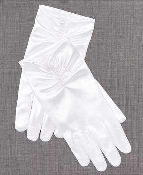 Blush by Us Angels Gloves With Pearl Trim, Toddler, Little Girls (2T-6X) & Big Girls (7-16)
