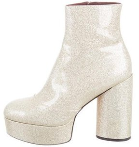 Marc Jacobs Amber Glitter Ankle Boots