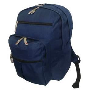 DAY Birger et Mikkelsen K-Cliffs Backpack 18 inch School Book Bag Multi Pockets College Student Pack Navy