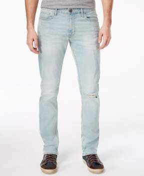 Calvin Klein Jeans Mens Light Wash Destroyed Slim Jeans
