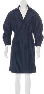 Andrew Gn Silk Knee-Length Coat