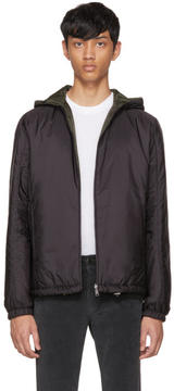 Prada Reversible Black Nylon Hooded Jacket