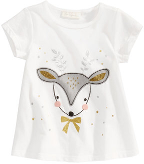 First Impressions Deer-Print T-Shirt, Baby Girls (0-24 months), Created for Macy's