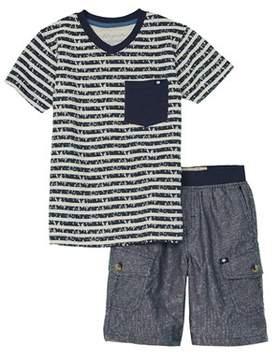 Lucky Brand Boys' 2pc T-shirt & Short Set.