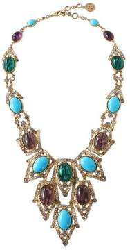 Ben-Amun Gold-Tone Stone And Crystal Necklace