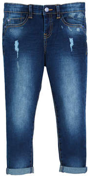 Mayoral Distressed Regular-Fit Jeans, Size 4-7