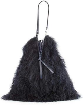 Nina Ricci Large Lamb Shearling Fur Shoulder Bag