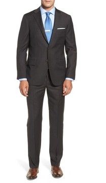Hickey Freeman Men's Classic B Fit Check Wool & Cashmere Suit