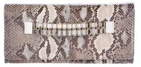 Michael Kors Python Beverly Watchband Clutch w/ Tags - BLACK - STYLE
